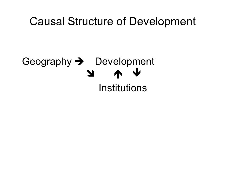 Causal Structure of Development