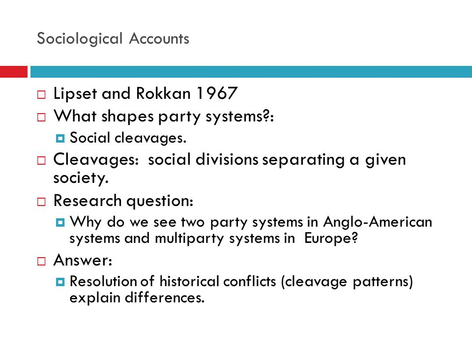 Sociological Accounts