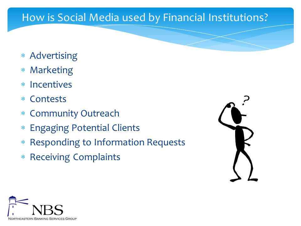How is Social Media used by Financial Institutions