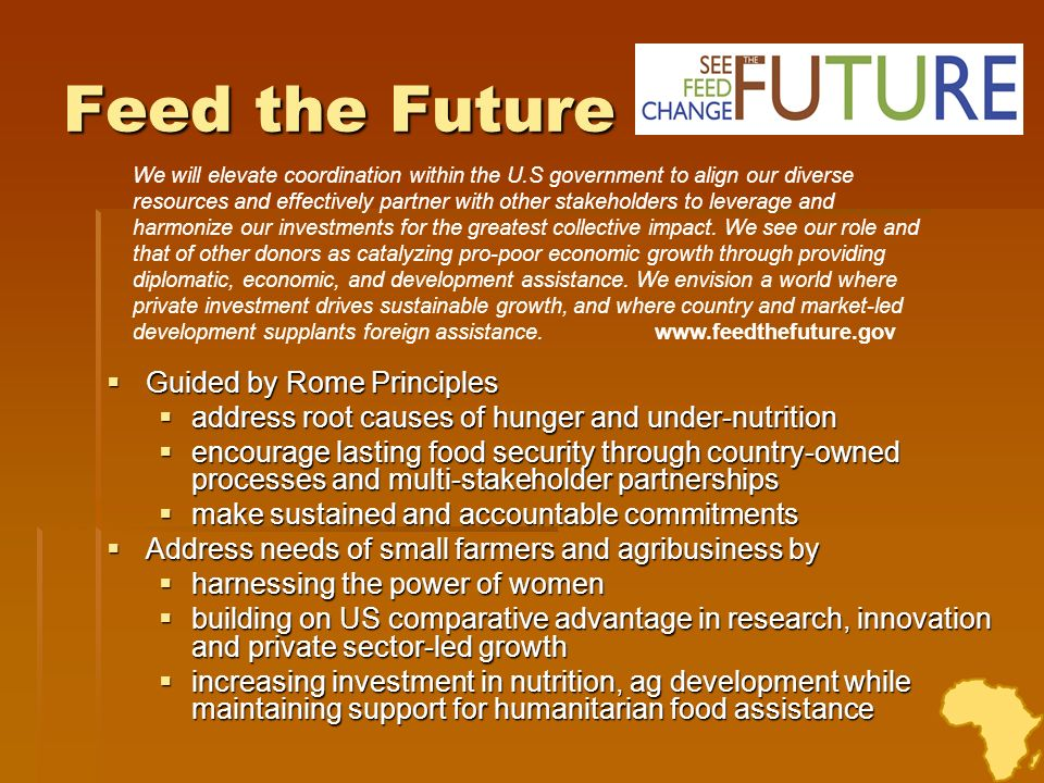 Feed the Future Guided by Rome Principles