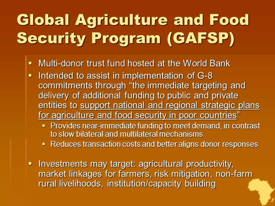 Global Agriculture and Food Security Program (GAFSP)