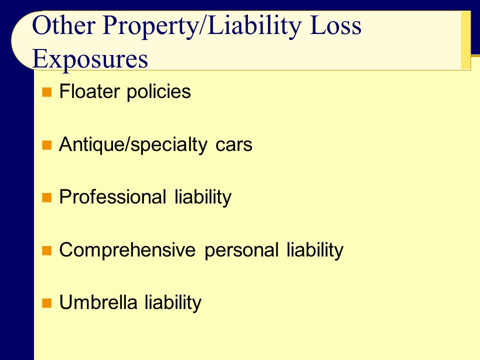 Other Property/Liability Loss Exposures