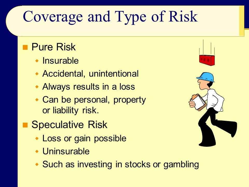 Coverage and Type of Risk