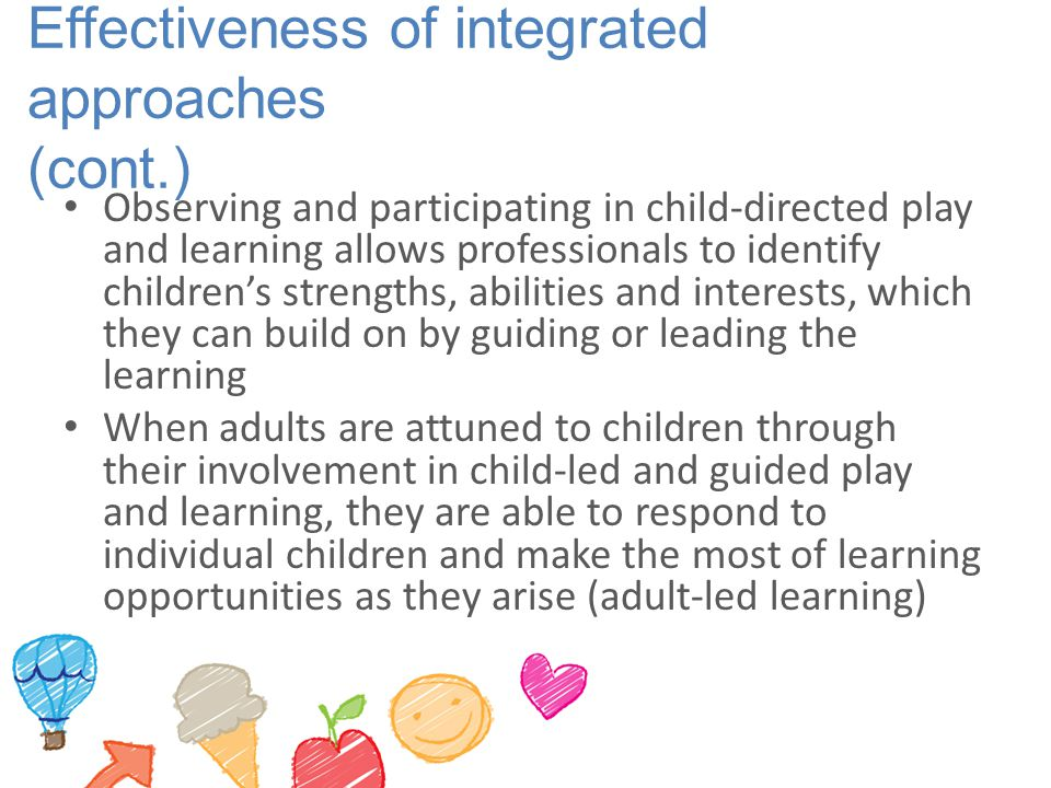 Effectiveness of integrated approaches (cont.)