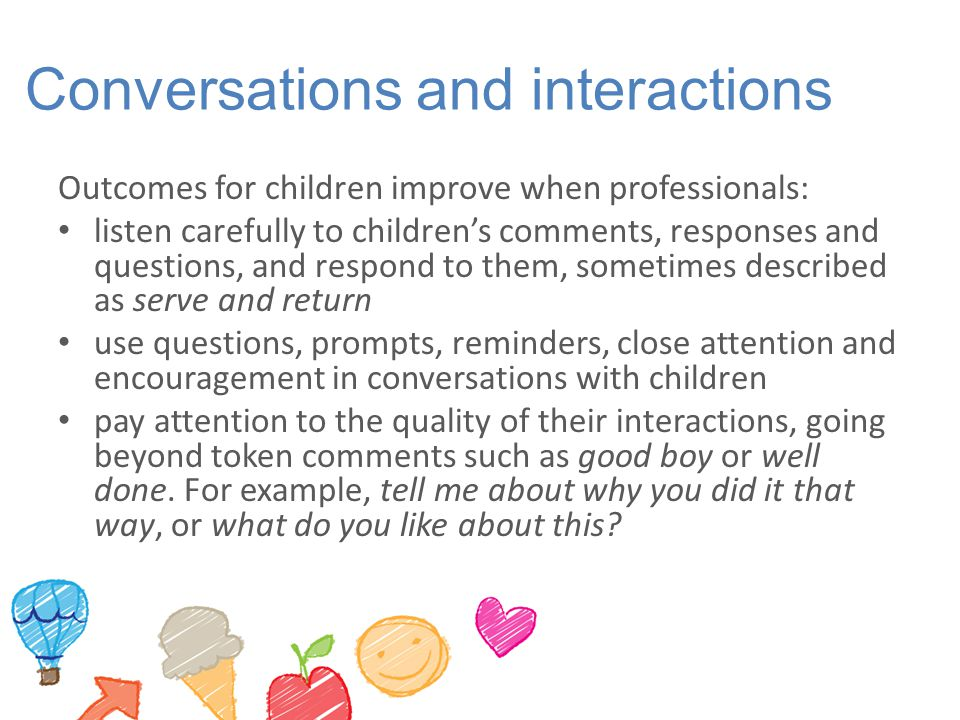 Conversations and interactions