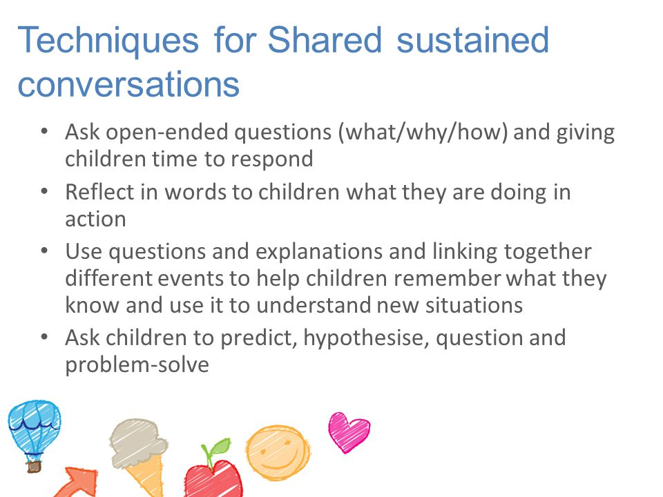 Techniques for Shared sustained conversations