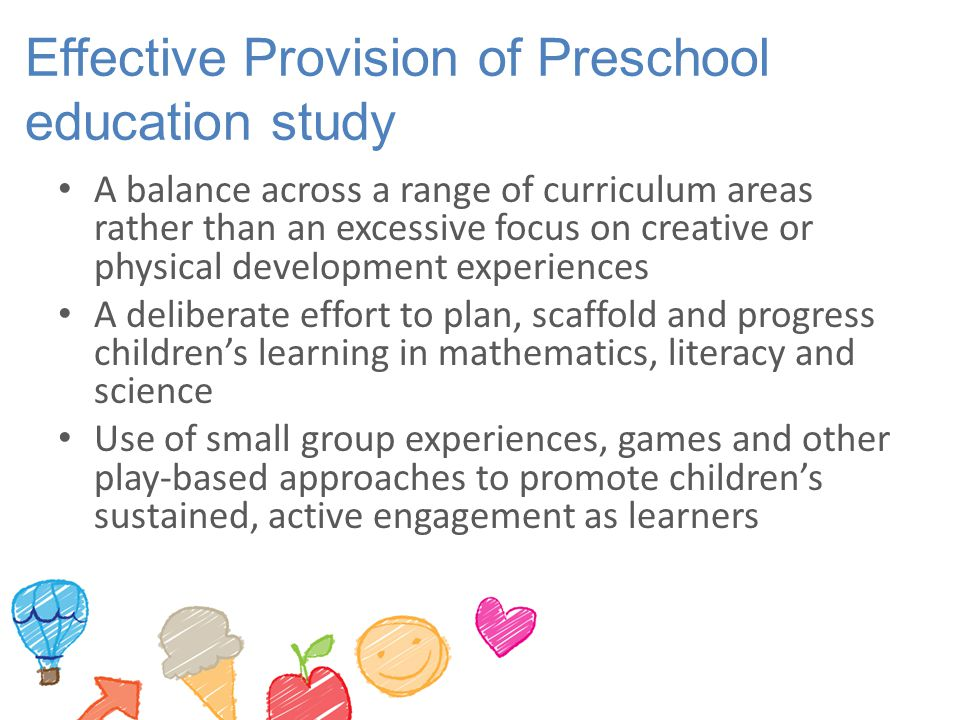 Effective Provision of Preschool education study