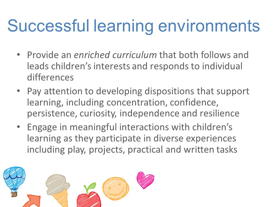 Successful learning environments