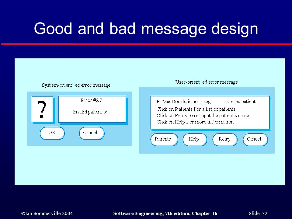 Good and bad message design