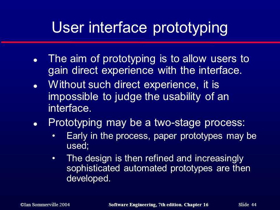 User interface prototyping