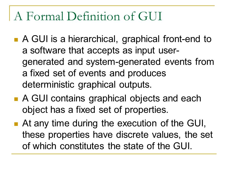 A Formal Definition of GUI