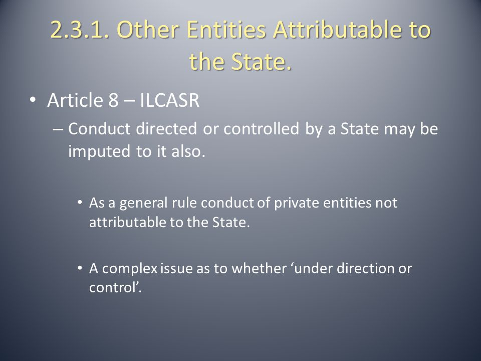 2.3.1. Other Entities Attributable to the State.