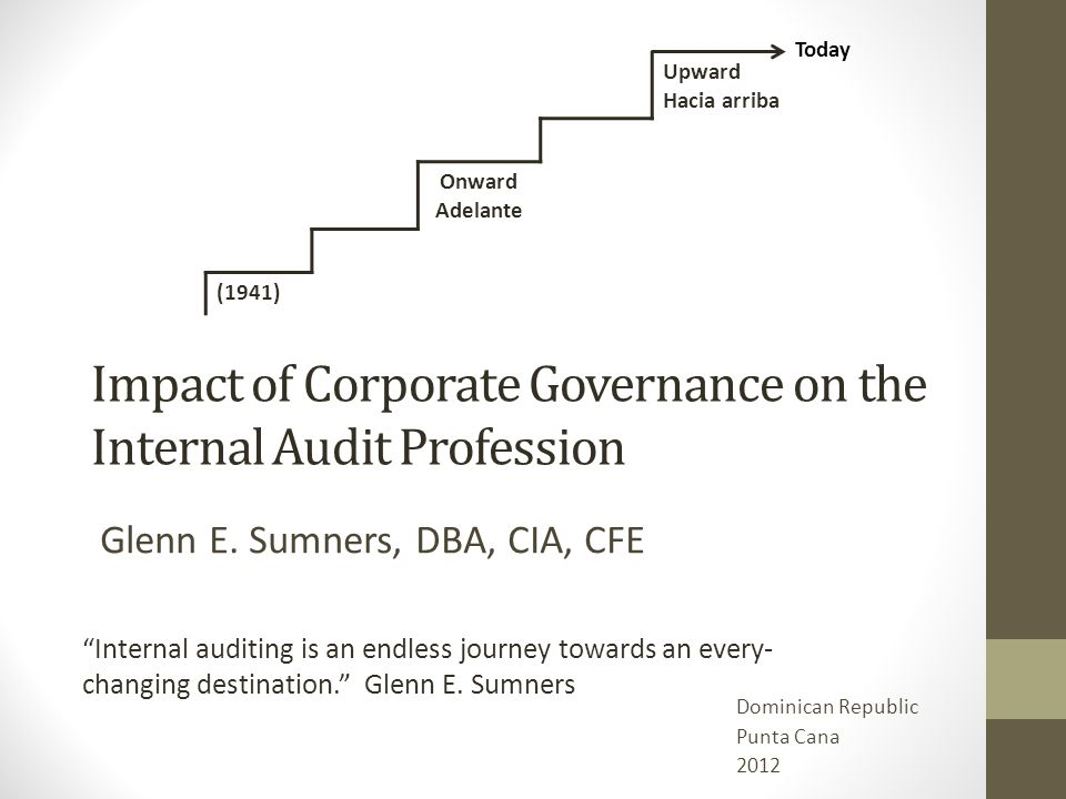 Impact of Corporate Governance on the Internal Audit Profession