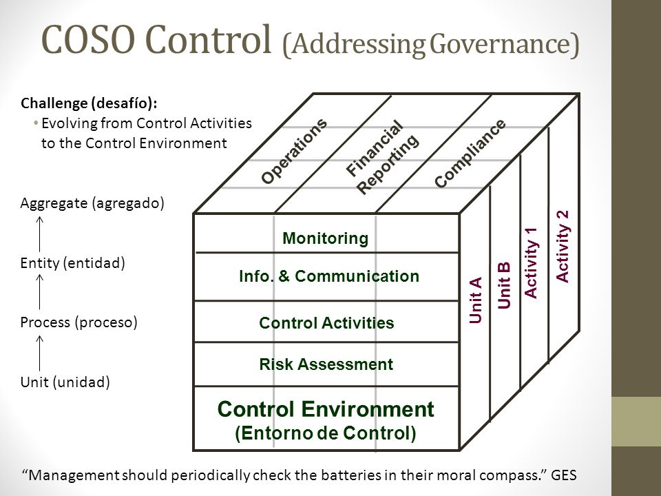 COSO Control (Addressing Governance)