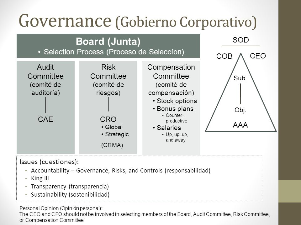 Governance (Gobierno Corporativo)