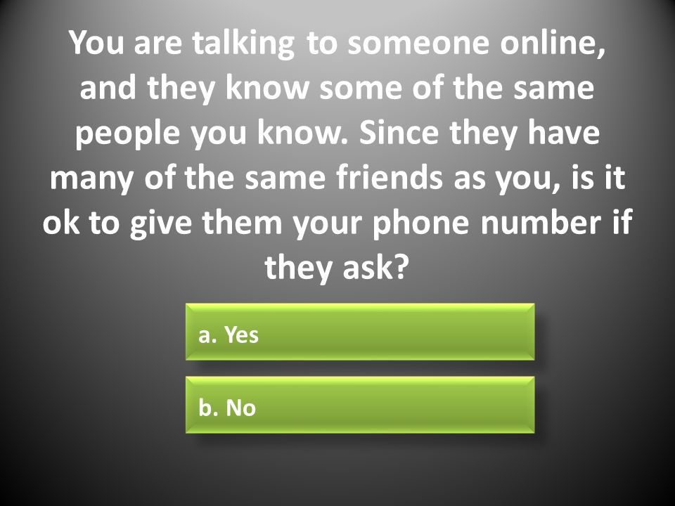 Online dating when to give your number