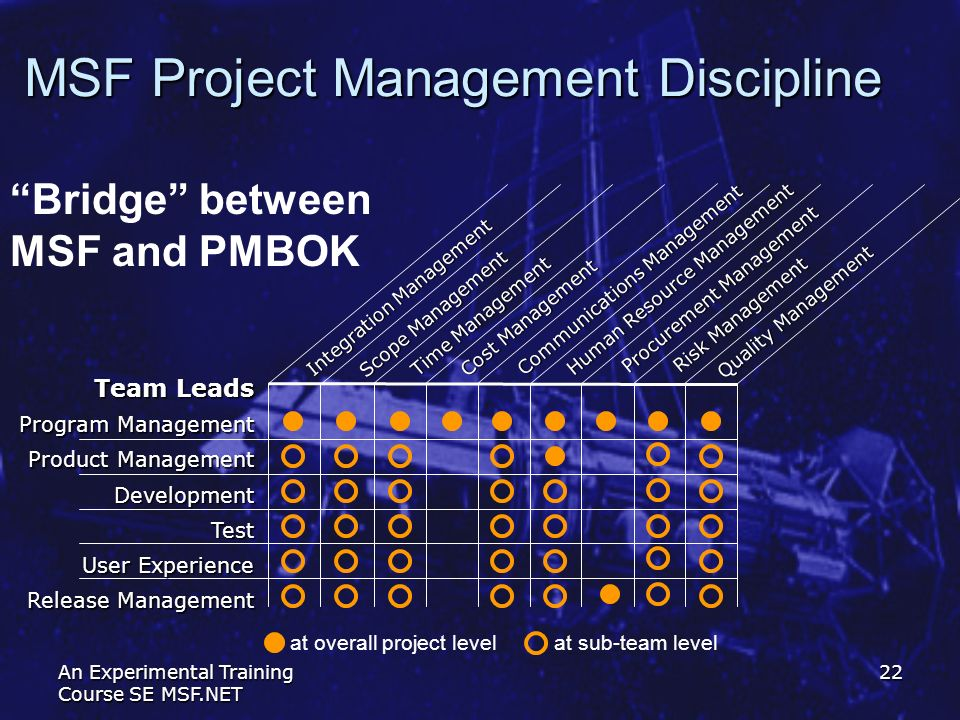 MSF Project Management Discipline