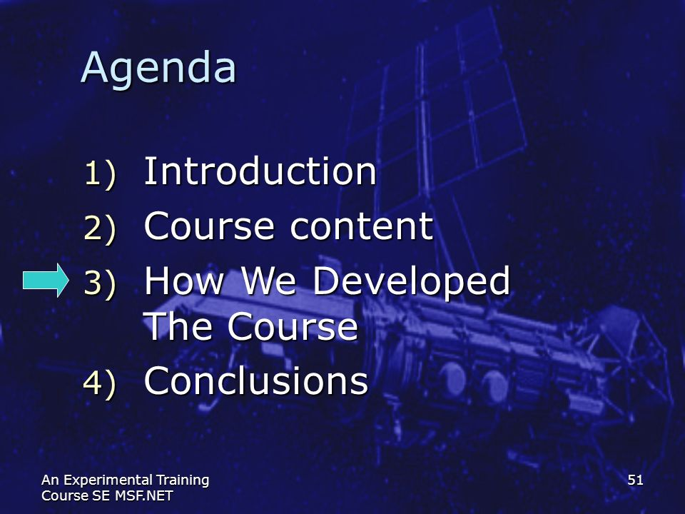 Agenda Introduction Course content How We Developed The Course