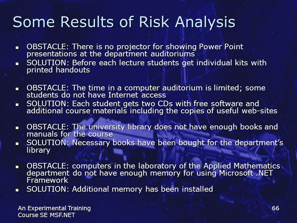 Some Results of Risk Analysis