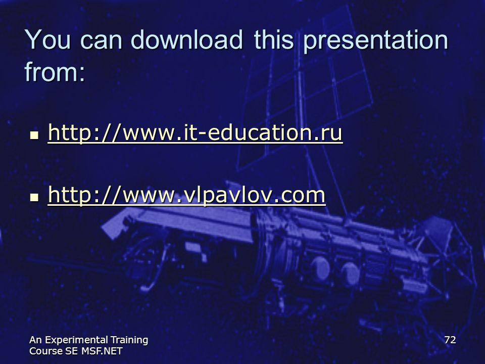 You can download this presentation from: