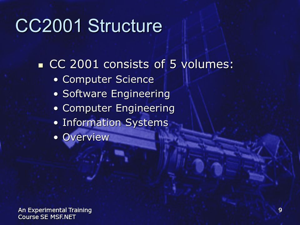 CС2001 Structure СС 2001 consists of 5 volumes: Computer Science
