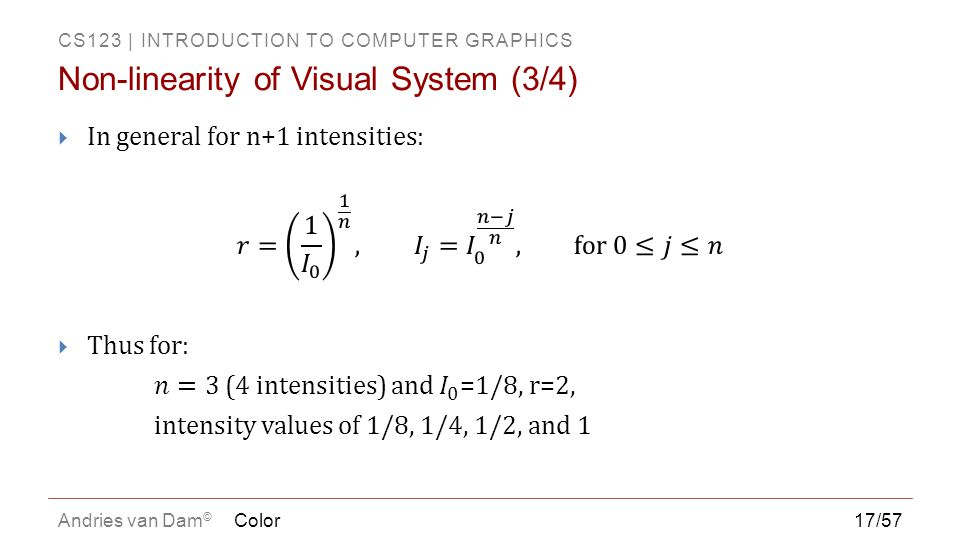 Non-linearity of Visual System (3/4)
