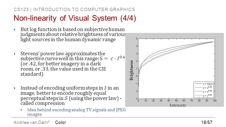 Non-linearity of Visual System (4/4)