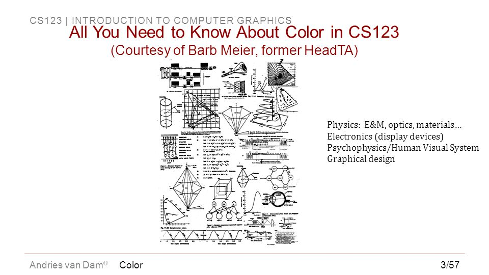 All You Need to Know About Color in CS123 (Courtesy of Barb Meier, former HeadTA)
