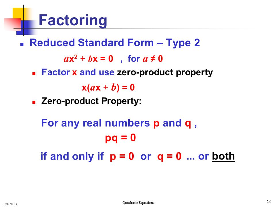 Solving Quadratic Equations Ppt Download. 26 Solving Quadratic Equations. Worksheet. Solving Quadratics Using Zero Product Property Worksheet At Clickcart.co