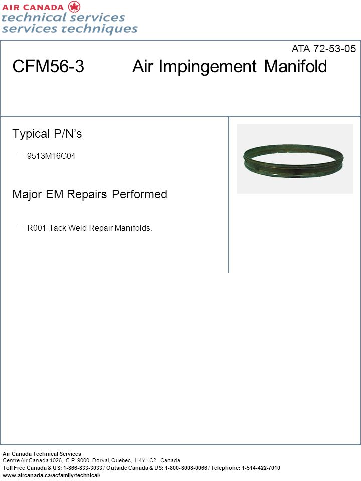 CFM56-3 Air Impingement Manifold