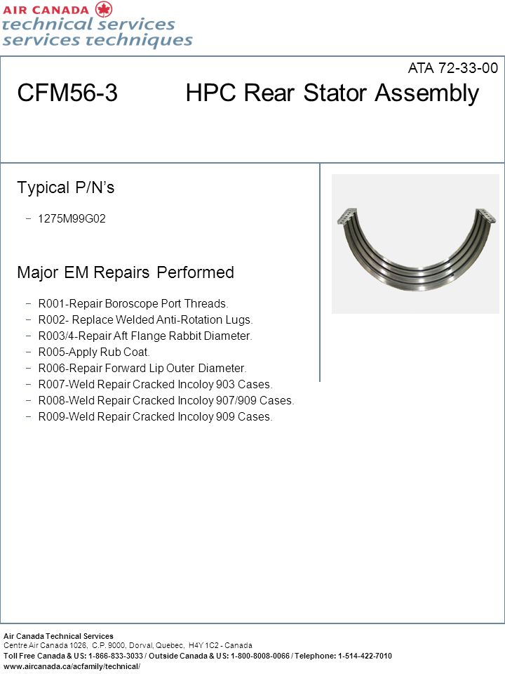 CFM56-3 HPC Rear Stator Assembly