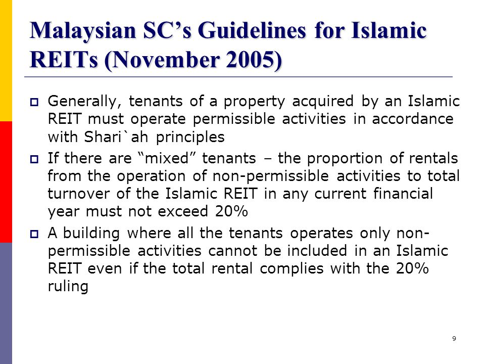 Malaysian SC's Guidelines for Islamic REITs (November 2005)