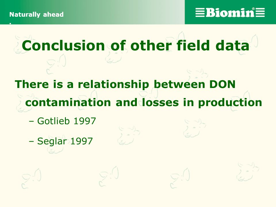 Conclusion of other field data