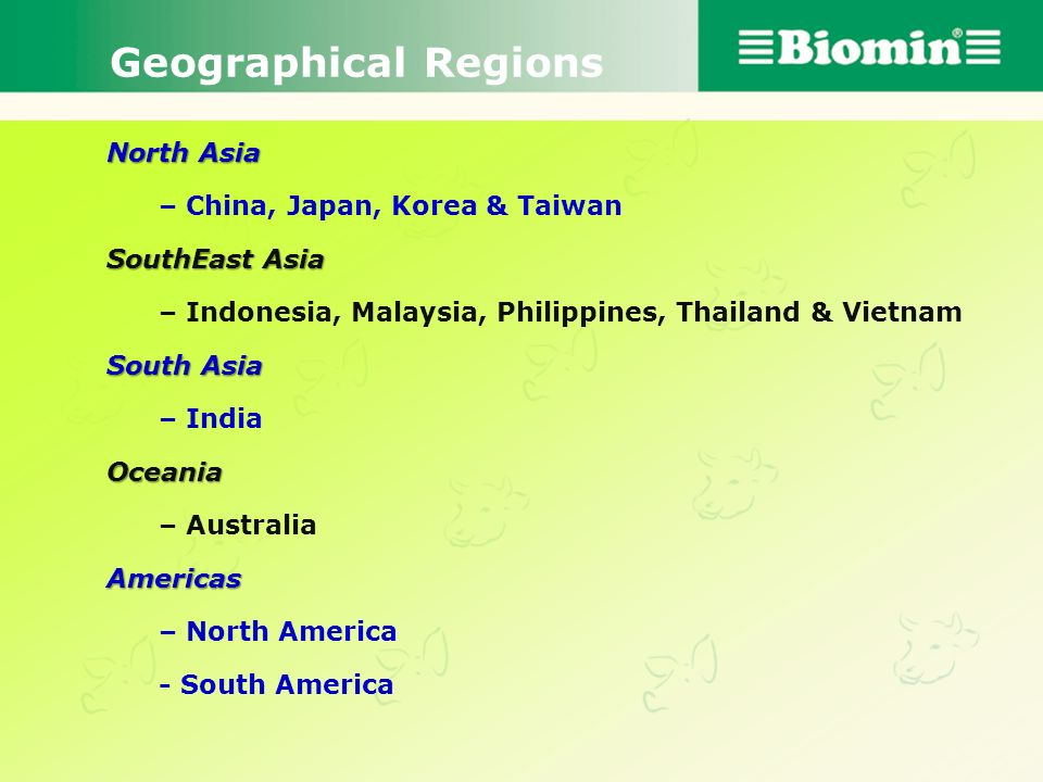 Geographical Regions North Asia – China, Japan, Korea & Taiwan