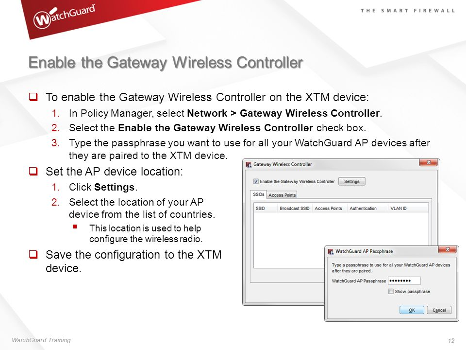 Enable the Gateway Wireless Controller