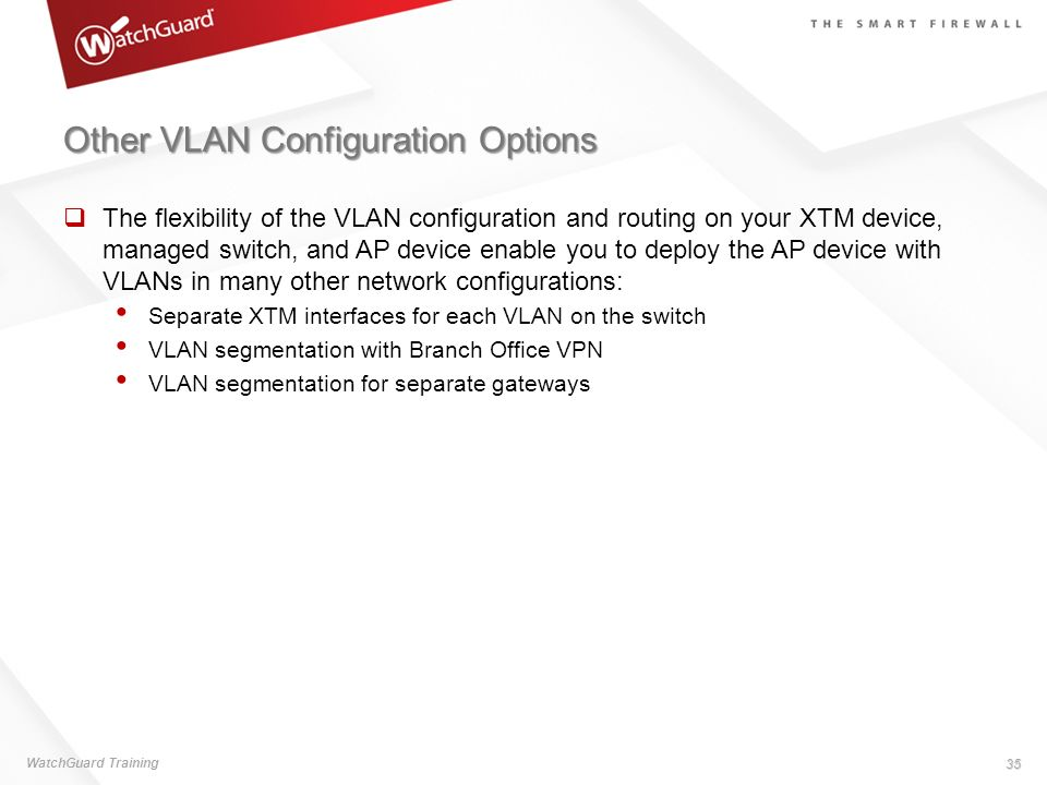Other VLAN Configuration Options