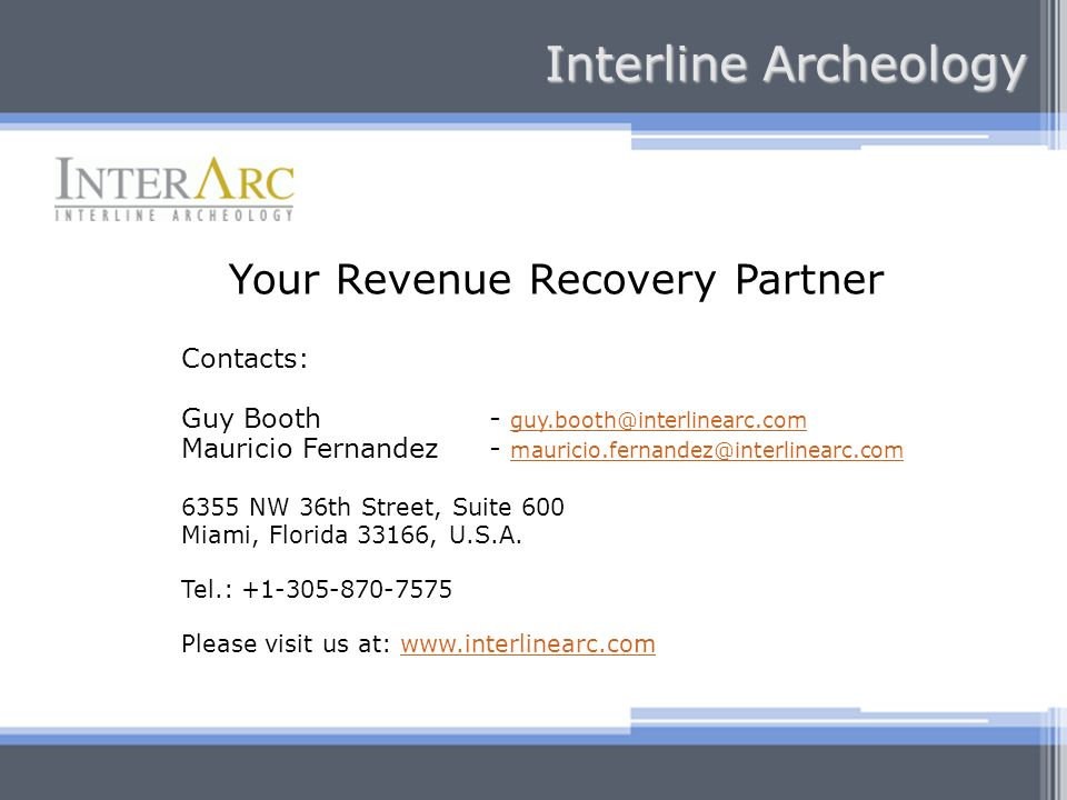 Your Revenue Recovery Partner