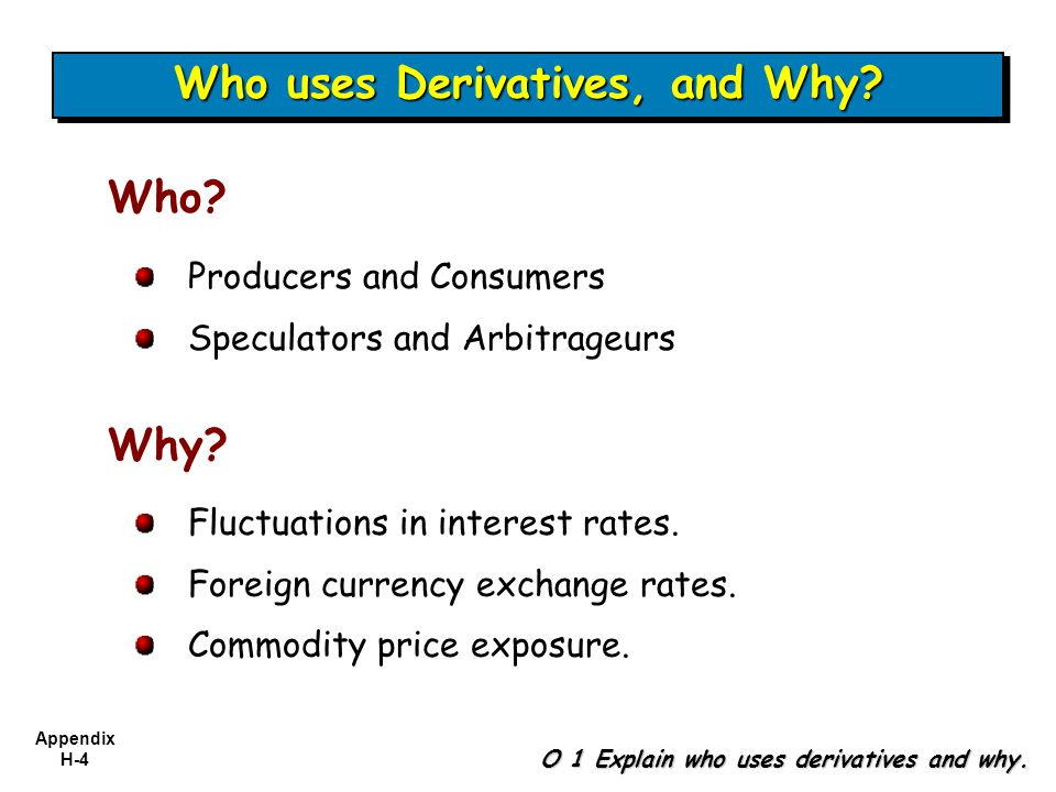 Who uses Derivatives, and Why