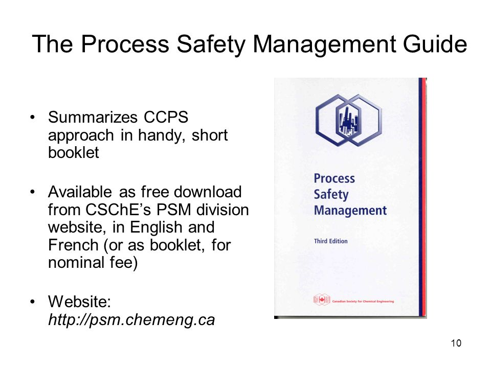 The Process Safety Management Guide
