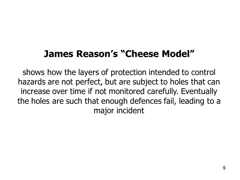 James Reason's Cheese Model