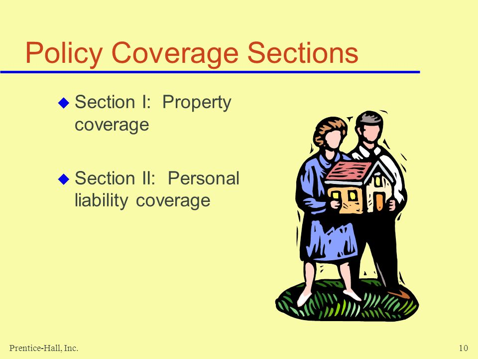 Policy Coverage Sections
