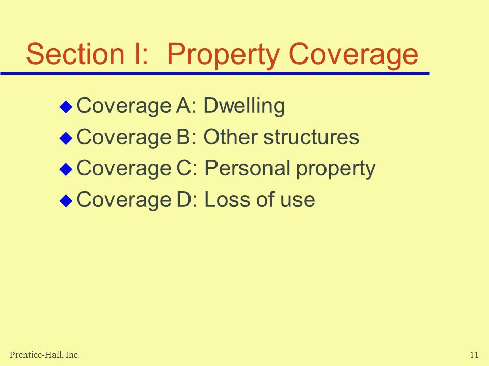 Section I: Property Coverage