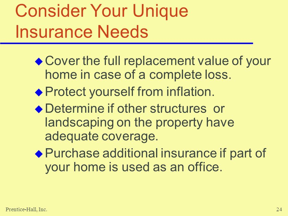 Consider Your Unique Insurance Needs
