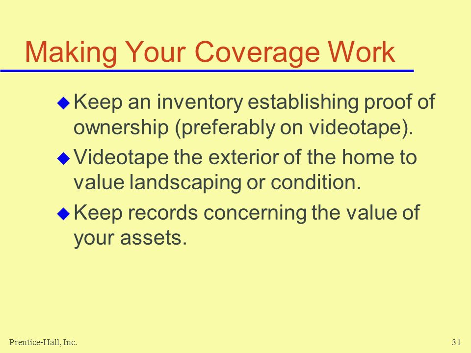 Making Your Coverage Work