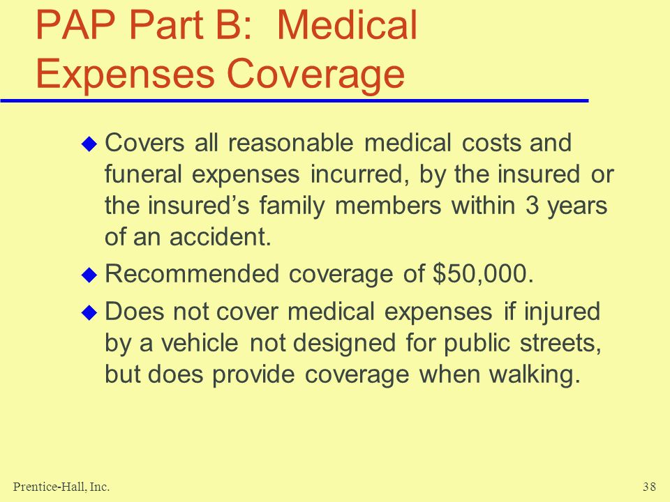 PAP Part B: Medical Expenses Coverage