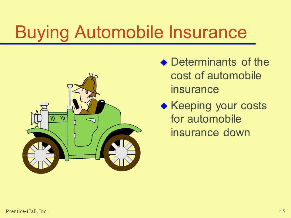 Buying Automobile Insurance