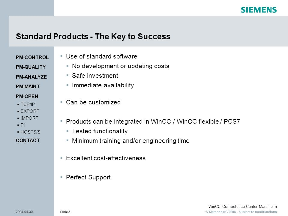 Standard Products - The Key to Success