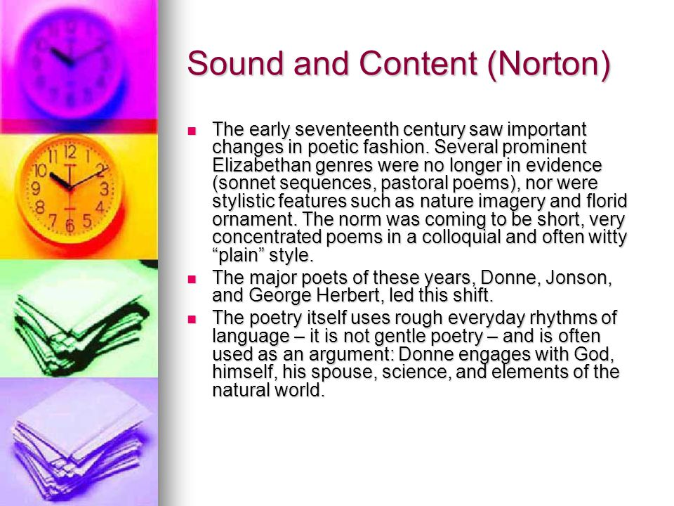 Sound and Content (Norton)