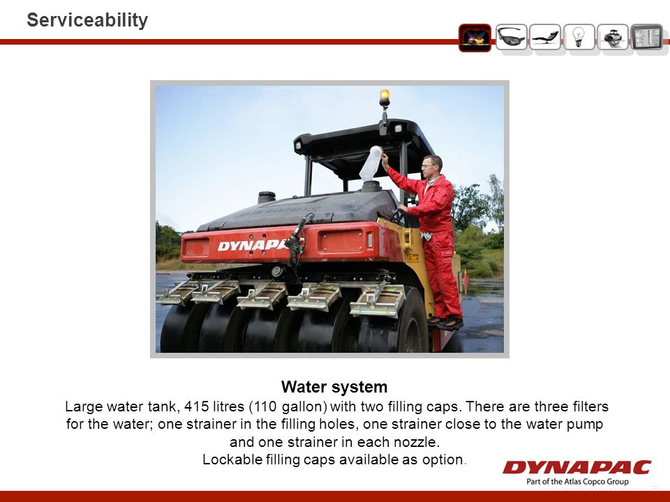 Serviceability Water system