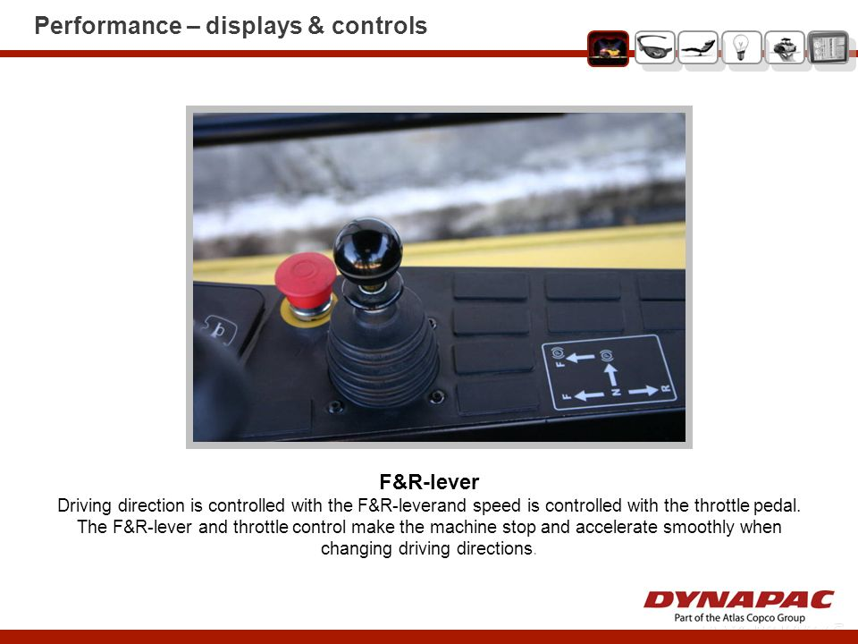 Performance – displays & controls